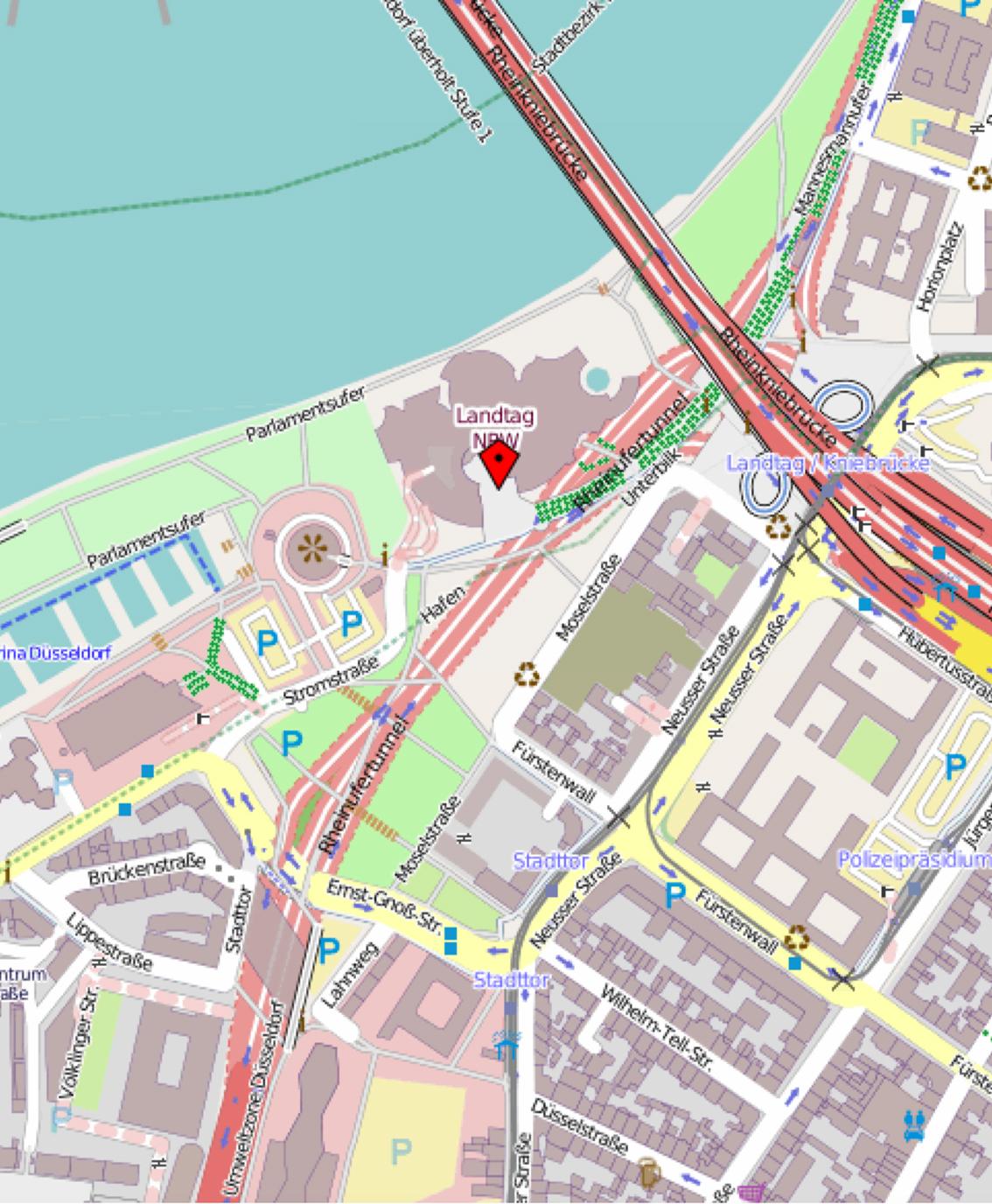 Landtag NRW, Platz des Landtags 1, 40223 Düsseldorf